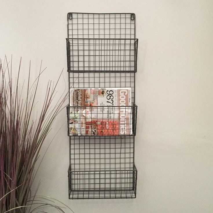 Industrial Wirework Magazine / Letter Storage Rack from The Farthing