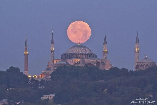 A splendid view of the Supermoon - Istanbul, 12TH JULY 2014