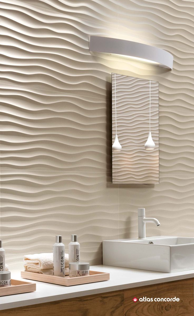 3D Wall Tiles for bathrooms, kitchens, Spas.