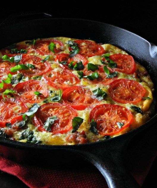 Sausage Tomato Basil Frittata #whole30 #paleo #lowcarb