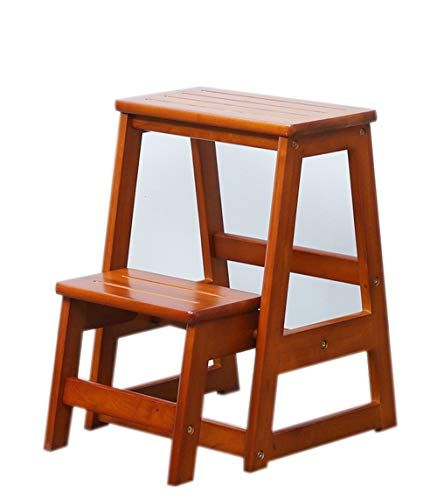 step stool solid wood multi function ladder chair home two step rh pinterest com