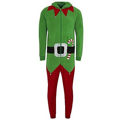 Christmas Elf Onesie | Men | George at ASDA