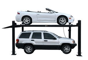 8,000lb. Black Extra Tall Deluxe 4 Post Service & Storage Lift