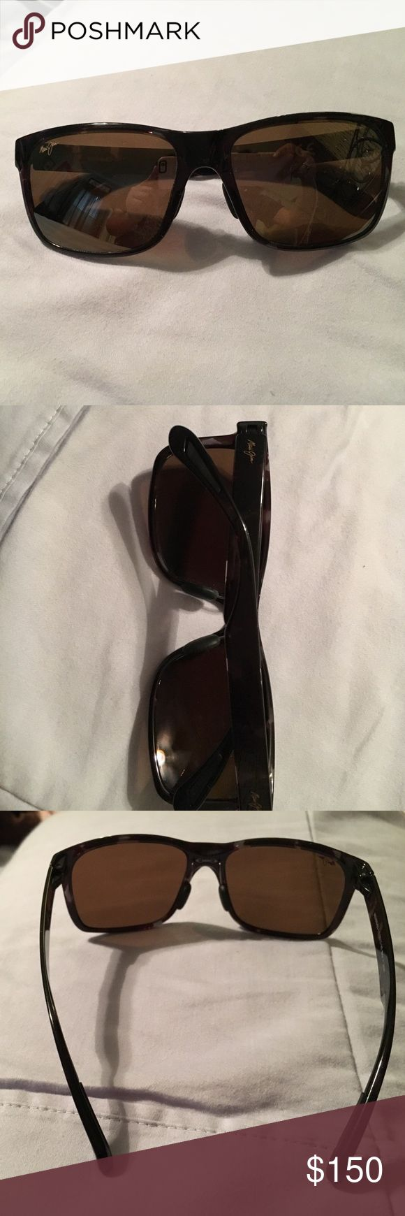 Women's Maui Jim sunglasses Maui Jim polarized sunglasses with brown lenses. Only been worn 1 time. They will come with both cases that they were purchased with. Maui Jim Accessories Sunglasses