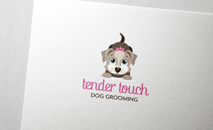 Tender Touch Dog Grooming logo design by ITALIC / #branding #identity #design #logo