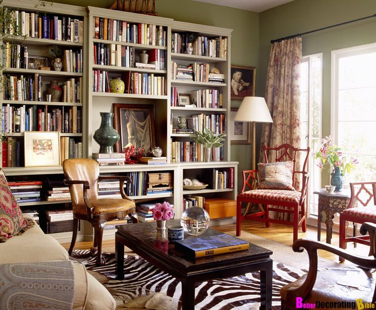 Library Home With Bohemian Style Living Room Library Design With Zebra Rug  Decor Ideas For Beautiful And Excellent Library Home Inspiring Design Ideas