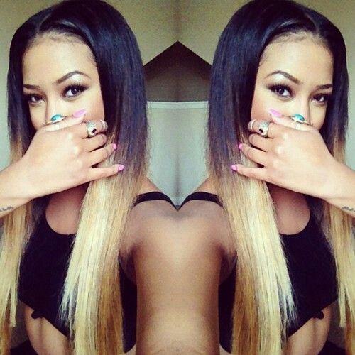 Gorgeous straight long hair
