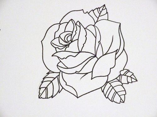 Rose Tattoo Outline Jpg Rose Tattoo Outline (101.38 Kb) 500x375