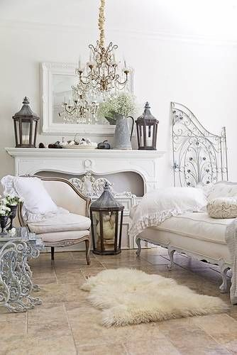 What features define French country farmhouse style decor?