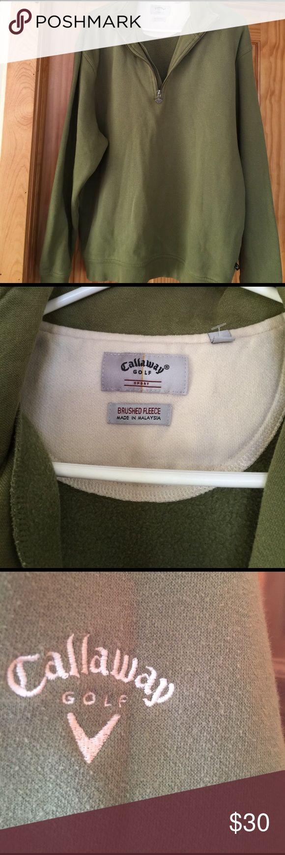 Callaway Golf Pullover Pull over Calaway Golf sweater, worn a few times, very nice, keeps you warm but breathes well. calaway golf Sweaters Zip Up