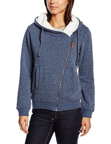 edc by ESPRIT Damen Sweatshirt Jacke mit Teddyfell | Sweatshirt Laden
