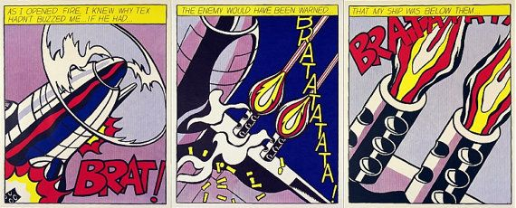 Roy Lictenstein Triptych 3 Museum Posters by BoomerangInc on Etsy, $120.00