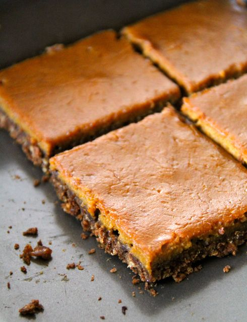 Pumpkin Gingerbread Bars