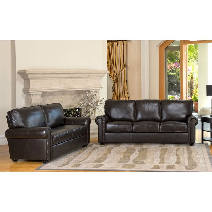 Abbyson London Premium Top Grain Leather Sofa And Love Seat By Abbyson Upholstery Italian