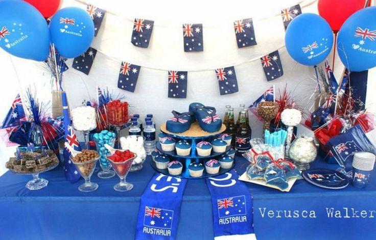 australian themed party table decorations