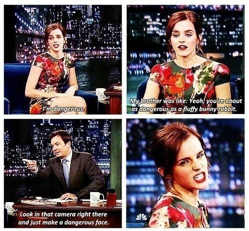 But she knows she is a force… a very dangerous one: | 29 Reasons Emma Watson Is The Light Of Every Human's Life