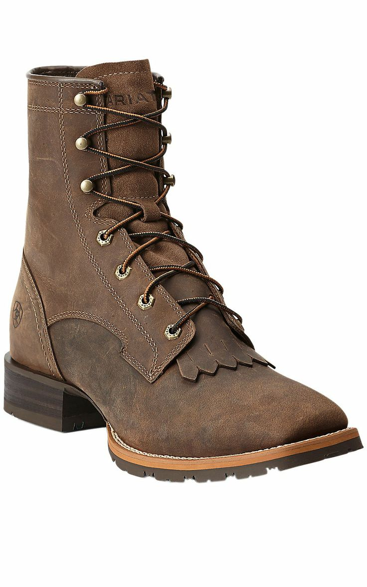 Ariat® Men's Distressed Brown Hybrid 8in Lace Up Work Boot