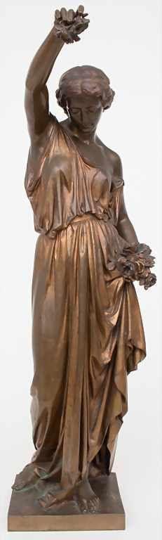 Aimé Millet (1814-1891), Bronzesplastik 'Flora' /…