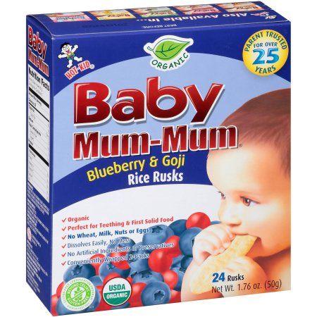 Hot Kid Baby Mum-Mum Organic Blueberry & Goji Rice Rusks, 24 count, 1.76 oz