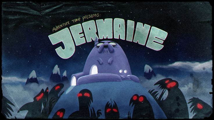 "Brandon Graham and Jesse Moynihan's ""Jermaine"" premieres tonight on the Peabody-Award-winning Adventure Time at 7:30/6:30c.Brandon designed the title card; Nick Jennings painted it."