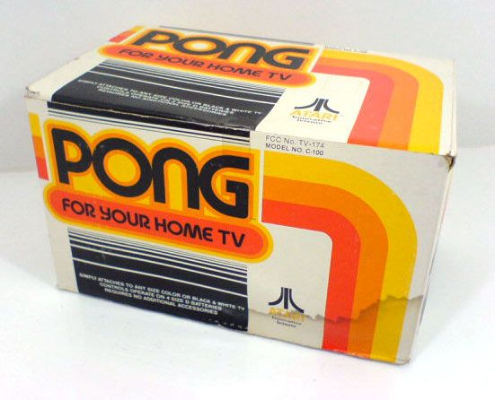 Pong, First home video game by Atari