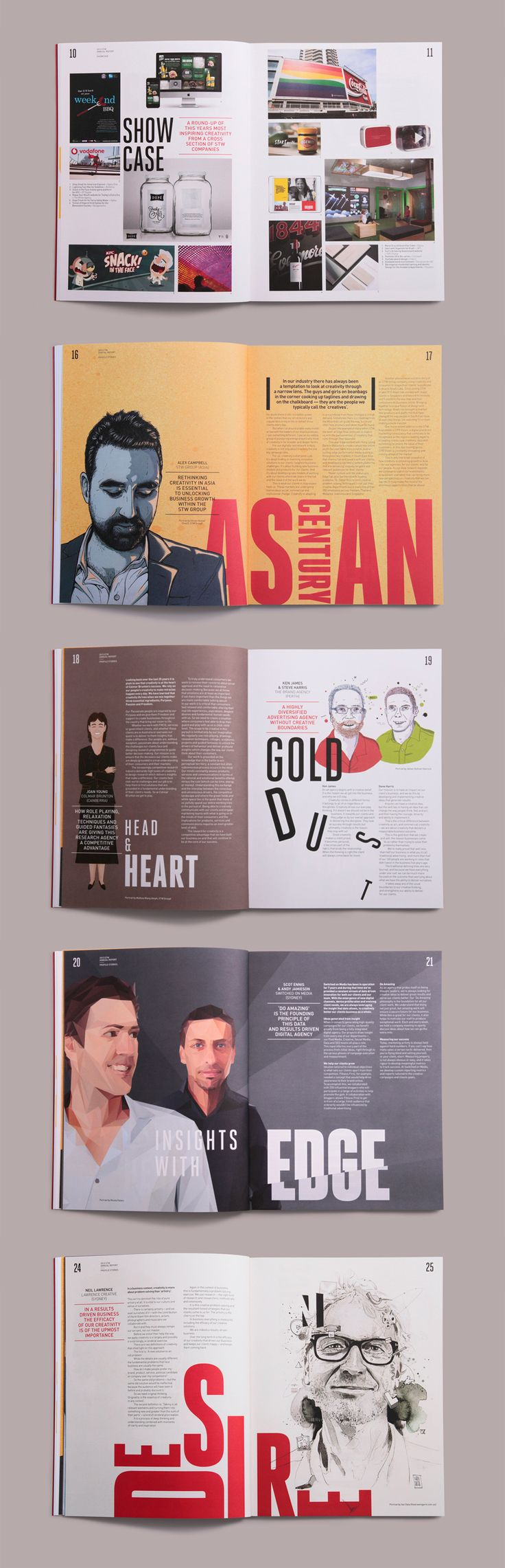 STW Group | Annual Report & Event on Behance
