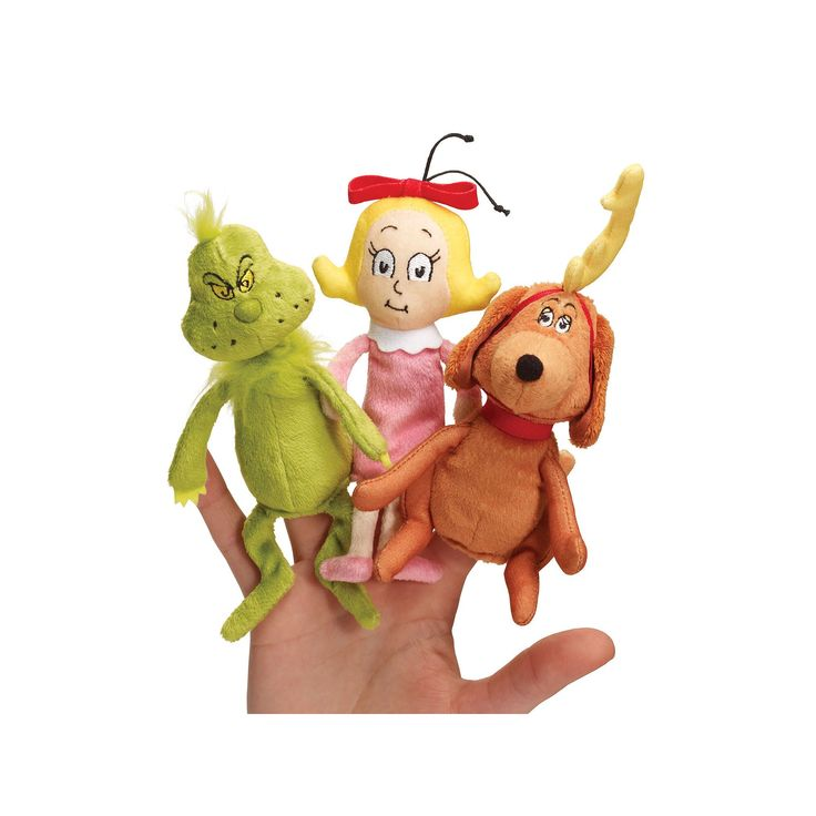 Dr. Seuss's The Grinch Finger Puppet Set by Manhattan Toy, Multicolor