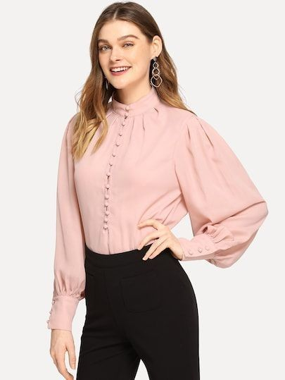 ed91520c 43 Cute Spring Blouses for Work 2019 | Work Outfits | Spring blouses, Shirt  blouses, Work blouse