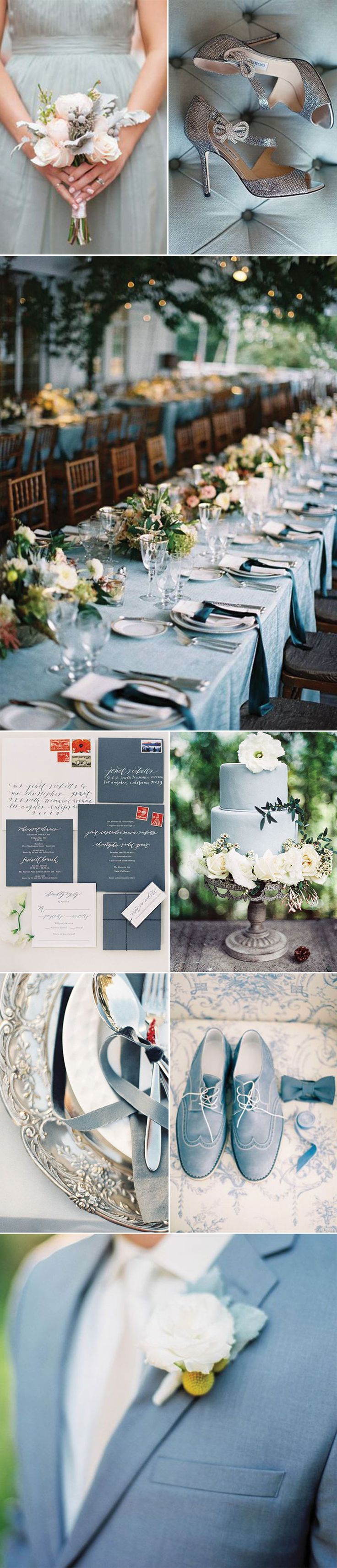 Plan a wedding in Pewter Blue. It pairs beautifully with silvers and navy blues.