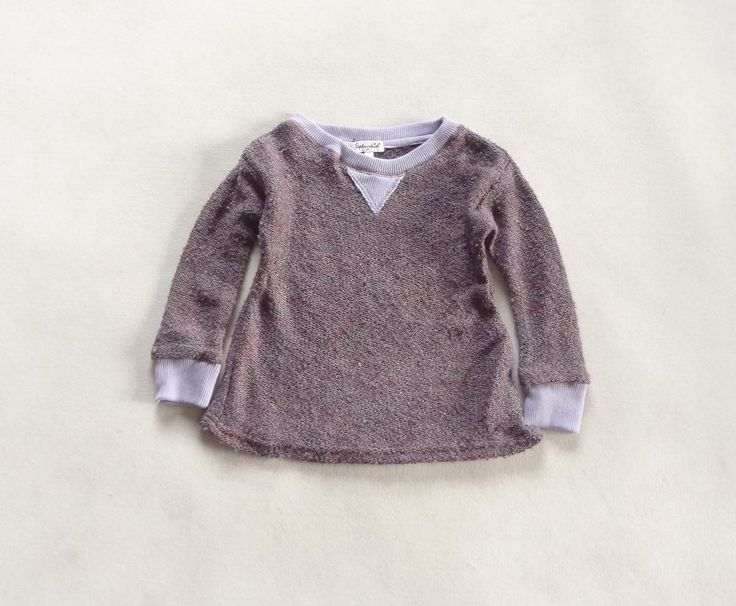 NEW Kids Girls Cotton Knit Sweater Pullover Top Cream or Purple size 2.3.4.5.6x  | eBay