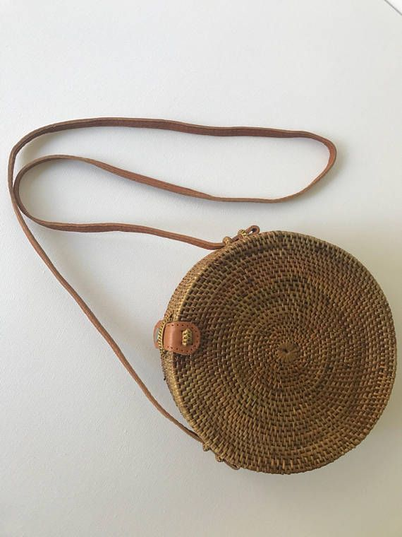 Round Rattan Handbag