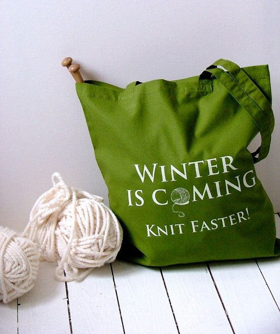 knitting project bag - olive - Kelly Connor Designs