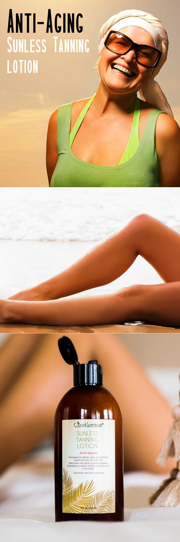 Sunless Tanning - Anti-Aging. - A beautiful sunless tan without the use of harmful chemical ingredients. You Be tan in a natural way!