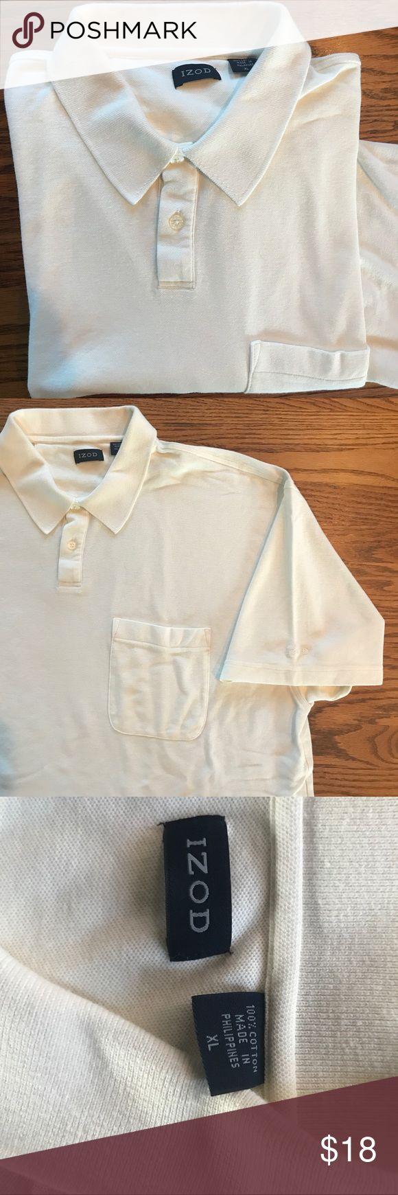IZOD Golf Polo Shirt w/front Pocket, Logo Sleeve As new, IZOD brand polo golf shirt. 100% cotton, size XL. Never worn, laundered once. IZOD Shirts Polos