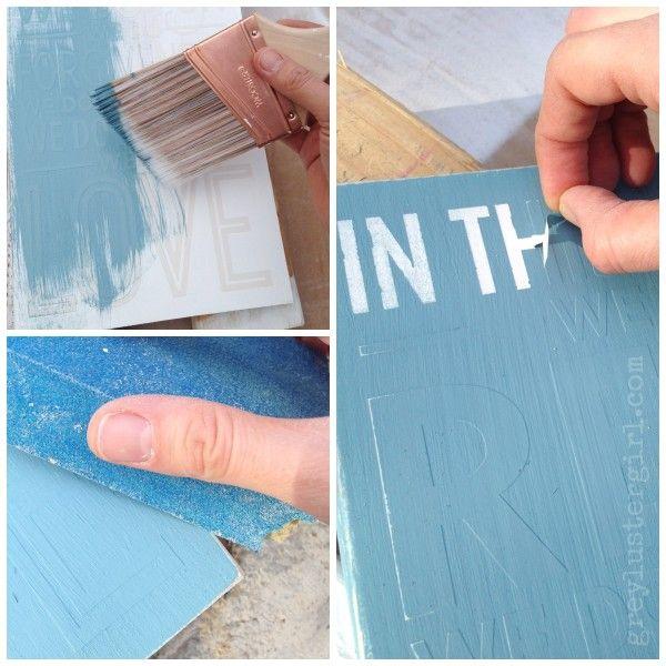segunda capa de pintura muestra de madera