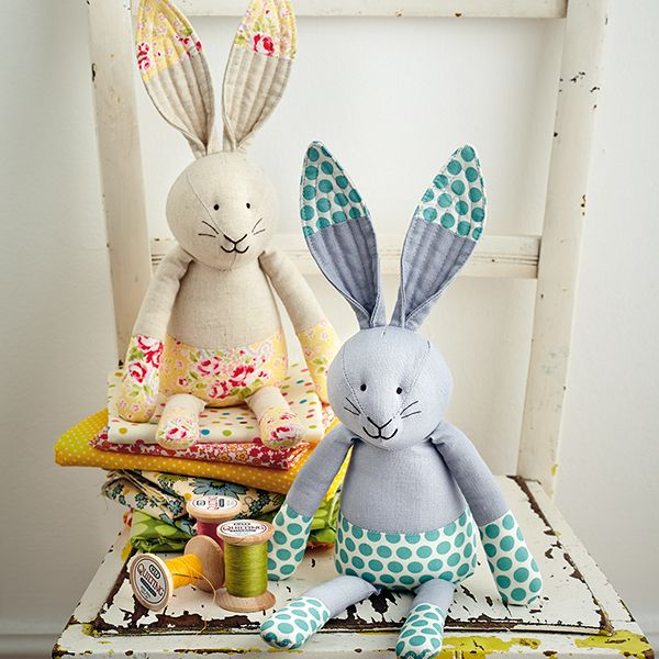 389 best sew images on pinterest rabbit plushies and rabbits sew a softie bunny toy tutorial for day 9 by jo carter negle Images