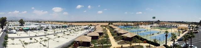Panorámica zona parcelas y bungalows by Camping Marjal Costa Blanca, via Flickr