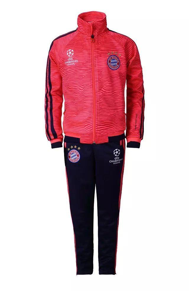 veste de Champions League Survetement entrainement Bayern Munich Enfant Rouge 2015 2016 pas cheres