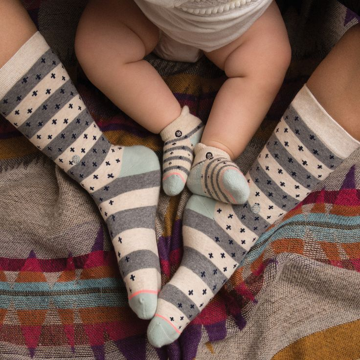 Like mother like daughter. Stance socks for mom  and baby girl.
