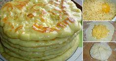 Vyskúšajte si pripraviť placky, ktoré sa podobajú zemiakovým lokšiam. Sú výborné a plnené lahodným syrom. Môžete ich naplniť podľa chuti.