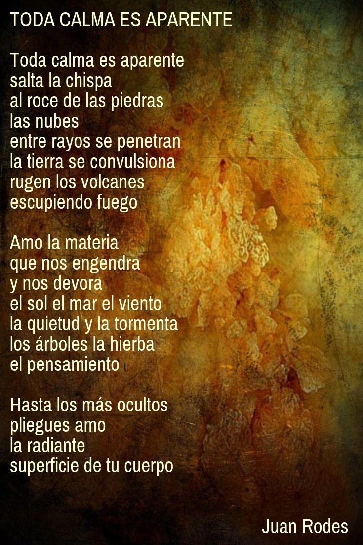 Toda Calma Es Aparente Poemas Frases De Cantantes Poema De Amor
