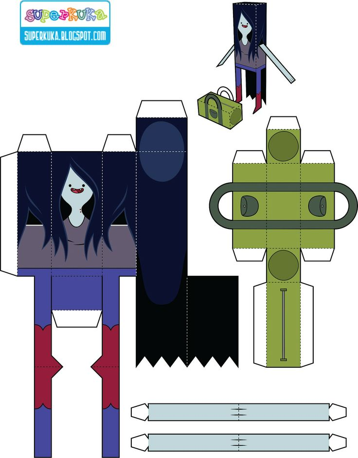 Adventure Time - paper toy - molde
