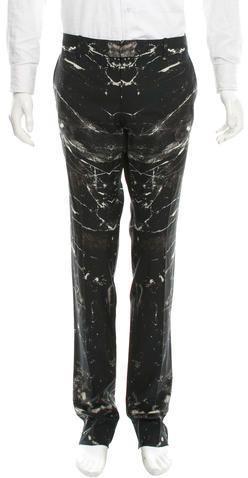 Alexander McQueen Printed Wool Pants