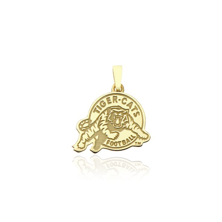 10kt yellow gold Hamilton Tiger-Cats pendant.