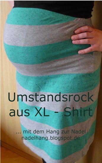 Umstandsrock aus XL - Shirt / Maternity skirt made from shirt incl. tutorial