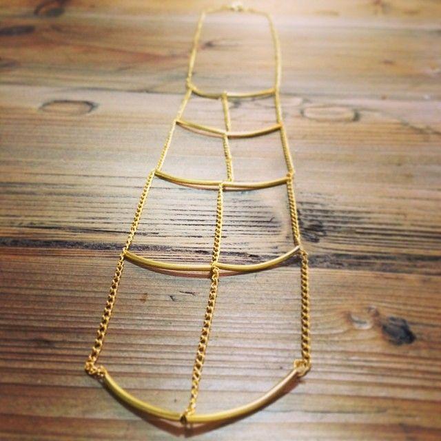 """@Somsri's photo: """"Brass skeleton panel necklace. 'Still alive'."""" #jewellery #handmade #jewelry #necklace #somsri #gold"""