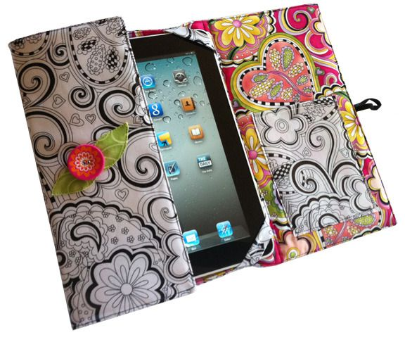 61 best iPad Patterns images on Pinterest   DIY, Bag and Embroidery : quilted ipad case - Adamdwight.com