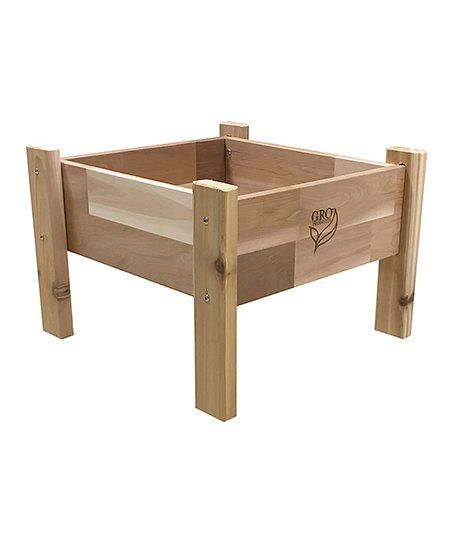 GRO Products 16 x 16 Cedar Elevated Garden Bed Planter & Liner | zulily
