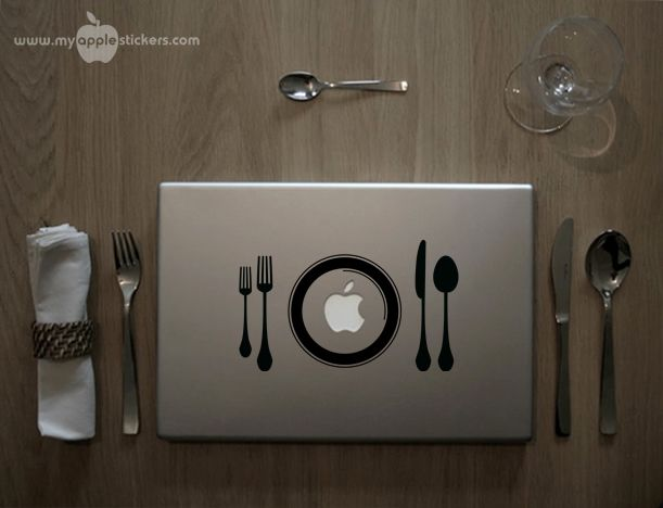 myapplestickers.com - it's Dinner Time - Stickers & Decals for Mac computers or iPad