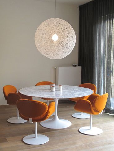Orange Little Tulip chairs designed by Pierre Paulin for Artifort. Project by Artifort dealer Meubart.
